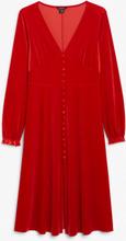 Velvet maxi dress - Red