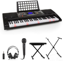 Etude 450 inlärnings-keyboard hörlurar mikrofon stativ sittbänk adapter