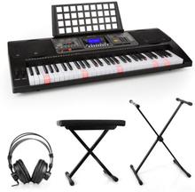 Etude 450 inlärnings-keyboard-set studiohörlurar keyboard-stativ sittbänk
