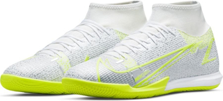 Nike Mercurial Superfly 8 Academy Ic Silver Safari - Vit/svart/silver/neon