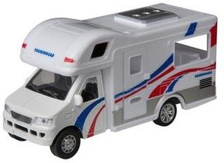 Turistvogn autocamper 12 cm hvid/blå/rød