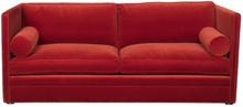 Soffa Rosen - Röd sammet