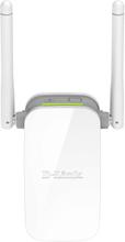 D-Link N300 Wi-Fi Range Extender, 10/100 Ethernet - Hvit