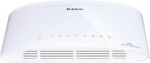 D-Link DGS-1008D, Nettverk Switch 8x 10/100/1000 - Hvit