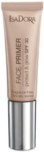 Isadora Face Primer Protect & Glow SPF 30 Primere Transparent