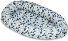 PQP - Babynest - Blå Trianglar
