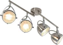 vidaXL Spotlight med 4 lampor silver GU10