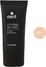 Organic Liquid Foundation Cream, 30 ml, Clair