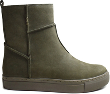 Green Comfort Boots Olive