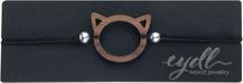 eydl Wood Jewelry - Kitty -Armbånd - svart