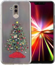 Huawei Mate 20 Lite beskyttelses deksel av TPU med printet jule mønster - jule tre