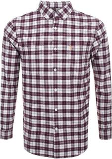 Farah Coleville Twill Check LS skjorta Farah Red