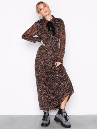 Only onlRINA L/S Long Dress Wvn Musta