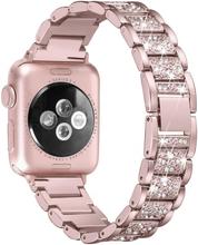 Apple Watch Series 4 40mm klokkereim av rustfritt stål med bergkrystall dekro - rose gull