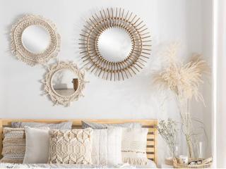 Beliani Spegel 53 cm beige GAYA