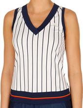 New York Striped Linne Damer