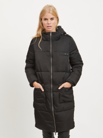 OBJECT COLLECTORS ITEM Padded, Long Jacket Women Black
