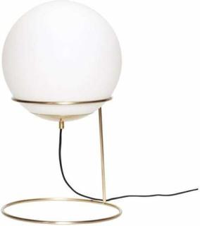 Hübsch - Gulvlampe, messing/hvid, metal/glas orange