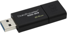 KINGSTON USB 3.0-minne, DataTraveler 100 G3, 64 GB
