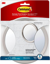 Command Satin Nickel Bath Mirror