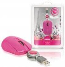 Mus Med Kabel Transportabel 3 Buttons Pink