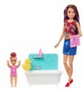 Barbie Dukker - Skipper Babysitter Med Badekar Og Baby