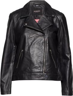 Maeve Leather Jacket Ls Læderjakke Skindjakke Sort Soaked In Luxury