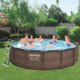 Bestway Power Steel Deluxe Series pool rund 427 x 107 cm 56664