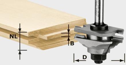 Festool HW S8 D46 x D12-FD Profilfjäderfräs 8mm HW-skaft