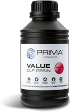 PrimaCreator Value UV / DLP Resin 500 ml Röd Transparent