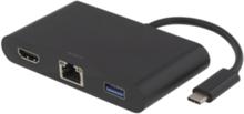 DELTACO USB-C dockningsstation