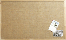 Anslagstavla väv med träram 60x40cm