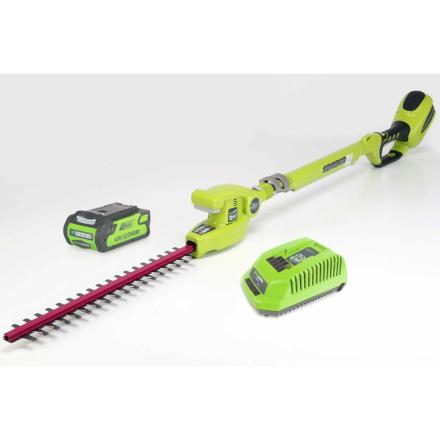 Greenworks Hekketrimmersett med 40 V 2 Ah batteri G40PH51 22147TUA