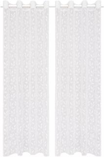 vidaXL Gardiner med warp strikk 2 stk 140x175 cm blader hvit