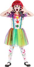 Kostume klovn maleri mangefarvet til piger - 3-4 år (92-104 cm) - XS