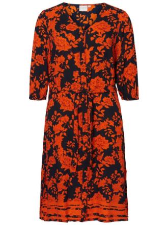 JUNAROSE Flower Printed Dress Women Blue