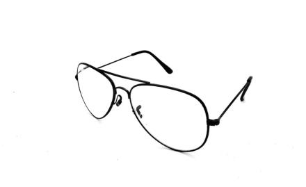 Cavok Läsglasögon Pilot med grad A lins 3.5, Svart