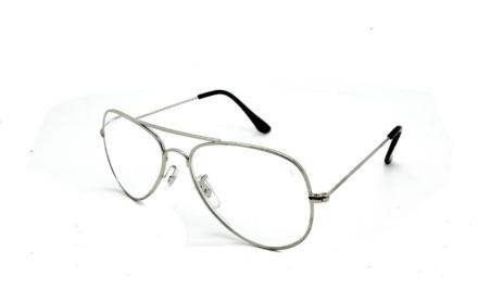Cavok Läsglasögon Pilot med grad A lins utan styrka, Silver