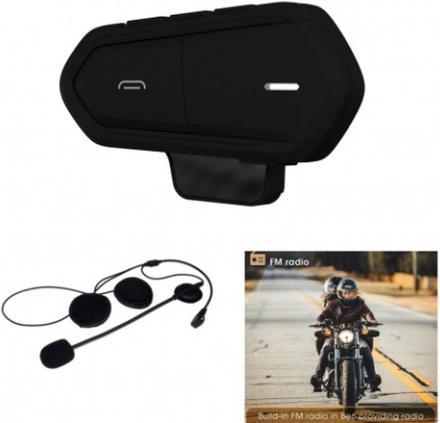 BE6 MC Motorcykel Skidhjälm Bluetooth Intercom Trådlös - Svart