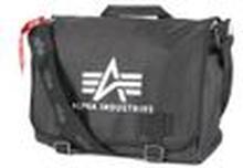 ALPHA Industries BIG A Oxford Courier Bag schwarz