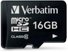 Verbatim Premium microSDHC Class 10 Hukommelseskort m. 16GB