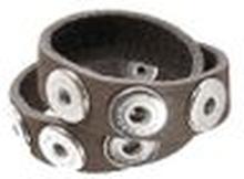 Noosa Armband double skinny grey ohne Chunks