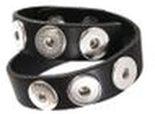 Noosa Armband double skinny antique black ohne Chunks