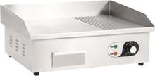 vidaXL elektrisk stegeplade rustfrit stål 3000 W 54x41x24 cm