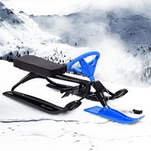 vidaXL Snösläde bob svart och blå