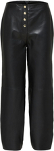 SELECTED High Waist - Leather Trousers Women Black