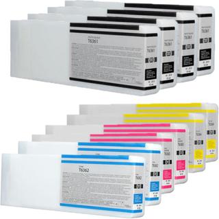 Epson T6361/T6362/T6363/T6364 combo pack 10 stk - Kompatibel - BK/C/M/Y 7000 ml