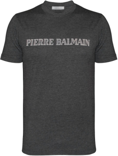 Pierre Balmain Pierre Balmain mørk Gråmeleret Logo T-Shirt