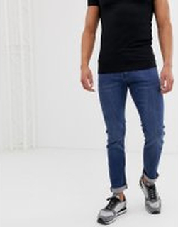 Armani Exchange - J13 - Mellanblå stretchiga slim jeans - Blå