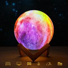 3D-Drucker Moon LED Lampe Home Office Schlafzimmer Dekoration Smart Creative Geschenk Nachtlichter
